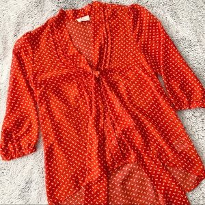 Pins & Needles Red Knot Blouse